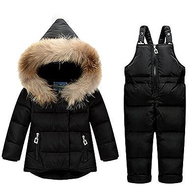 65be2c6e21ec Amazon.com  JELEUON Baby Girls Boys Two Piece Puffer Down Winter ...