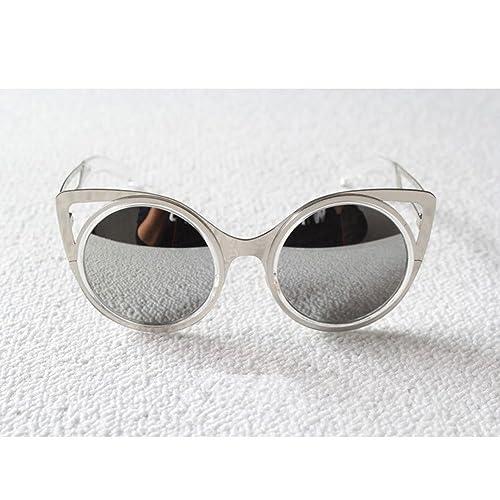 Zicac Occhiali da Sole Donna Ragazza Vintage Multi Colore 100% UV400 a Forma di Orecchiette (Argento...