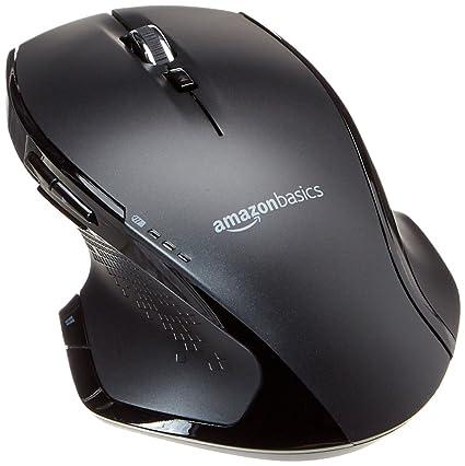 AmazonBasics – Ratón inalámbrico ergonómico de tamaño normal con rueda rápida