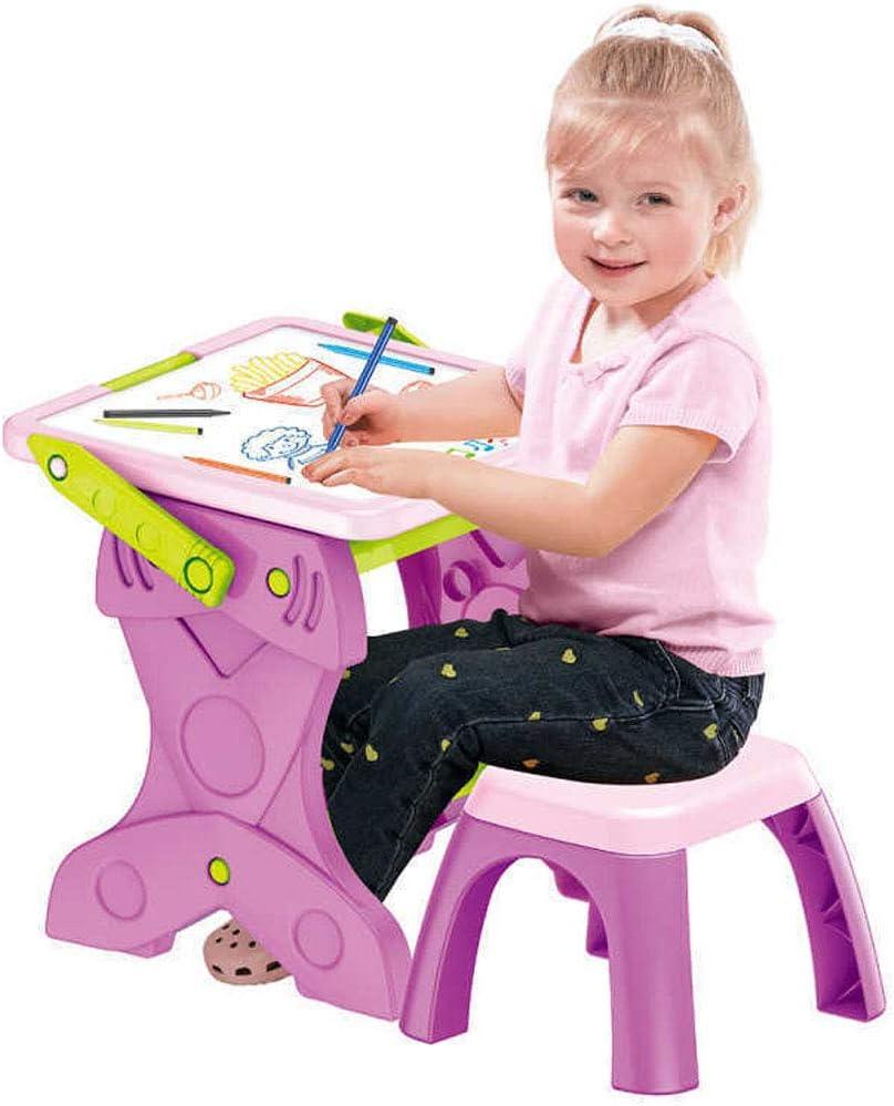 RONGJJ Tableau Multifonctions avec Accessoires Tableau Double Face Enfant Tableau Magnétique Amusement, Pink Pink