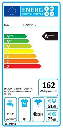 AEG L76485HFL Independiente 8kg 1400RPM A+++-10% Color blanco ...