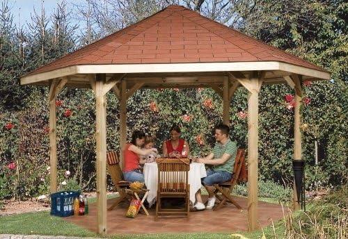 Weka Pavillon 656 Gr.2, Sparset INKL. Roten DS Cenador, Color Naturaleza, 399 x 461 x 312 (656.3838.00.09): Amazon.es: Jardín