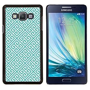 Eason Shop / Premium SLIM PC / Aliminium Casa Carcasa Funda Case Bandera Cover - Enlaces verde del modelo del papel pintado - For Samsung Galaxy A7 ( A7000 )