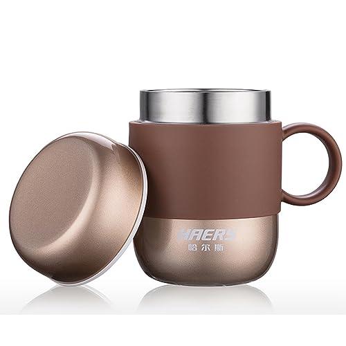 Tasse à Café Isotherme , Couleur Vive Acier Inoxydable Tasse Isotherme Pour Femmes et Homme au Bureau, à La Maison ou a L'école [280ML/9.5OZ]