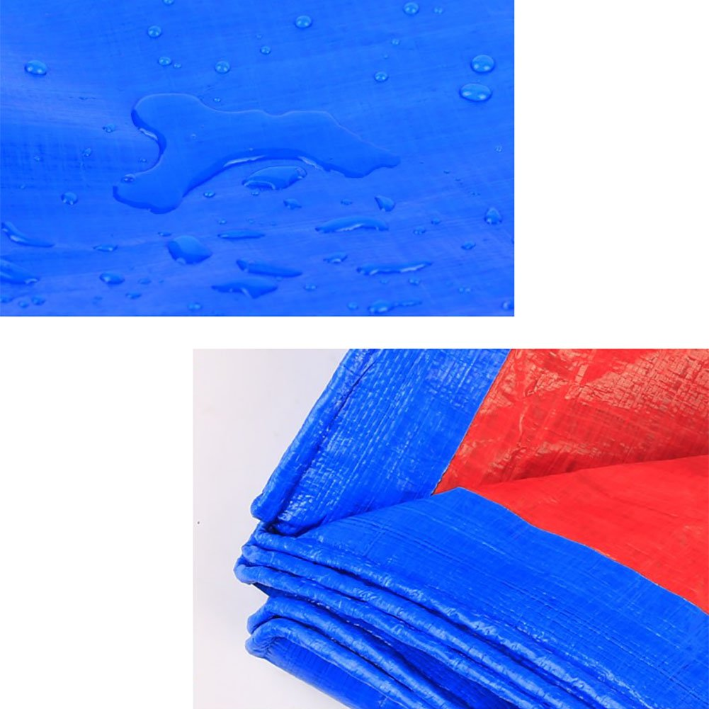 TDLX Große Wasserdichte Plane-schwere Picknick-Matten-Falle Regenfeste Boden-Blatt-Abdeckungen Schuppen-Tuch-Zelt-Splice-Markise-Sonnenblende-Visier-Blau, 150G     M² (größe   5  5m) a2a004