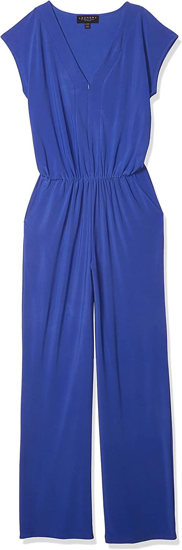 Laundry by Shelli Segal Women's Matte Jersey Short Sleeve V-Neck Jumpsuit