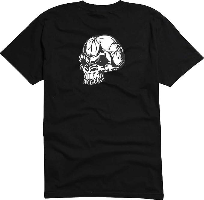 T-Shirt Herren schwarz Wild Schädel S