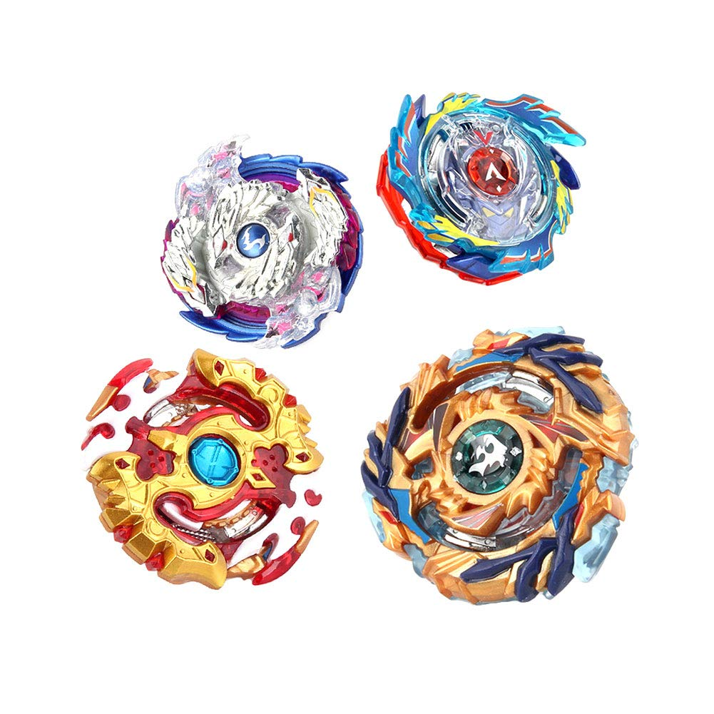 Naisidier Kids Spinning Gyro 4 in 1 Persistent Rotation Gyro Toys Creative Battling Burst Toys Set Burst Gyros Props Gyro Hands Battle Plate for Boys Girls 1pc XD168-6A Type by Naisidier