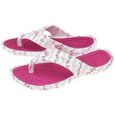 45337fce7caafa GreaterGood Pink Ribbon Party Flip Flops (6)
