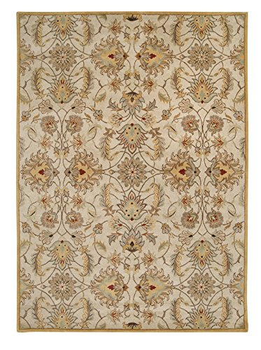 Surya Caesar CAE-1029 Classic Hand Tufted 100% Wool Feather Gray 2' x 4' Hearth Traditional Accent Rug (Half Moon Fireplace Rug compare prices)
