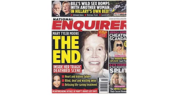 August 11, 2014 National Enquirer Mary Tyler Moore Jessica Simpson Kate Gosselin Bill Clinton: American Media Inc.: Amazon.com: Books