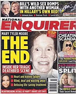August 11, 2014 National Enquirer Mary Tyler Moore Jessica Simpson Kate Gosselin Bill Clinton Single Issue Magazine – 2014