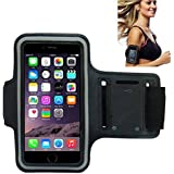Morris Workout Armband, Water Resistand Key Holder Card Holder Sport Armband for Smartphones iPhone 8, 7, 7 Plus, 6, 6 Plus, 6S, 5, 5S, 4, 4S, Galaxy S3, S4 + Key Holder, Water Resistant