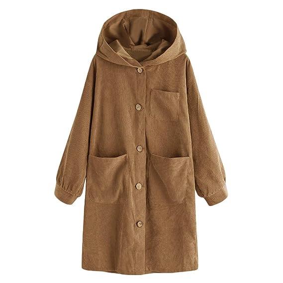 Luckycat Abrigos Mujer Chaqueta Invierno Rebajas, Otoño Pana Outwear Elegantes Moda Remata Grueso de la