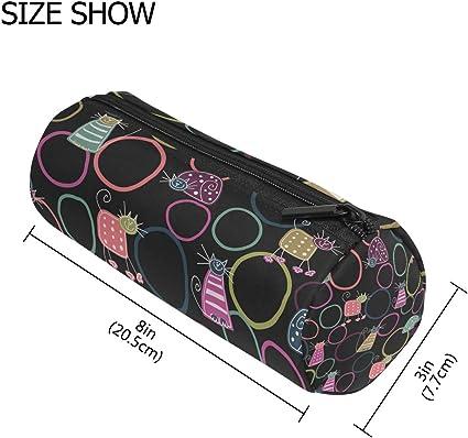 Malpleda - Estuche para bolígrafos de dibujo con diseño de gatos: Amazon.es: Oficina y papelería