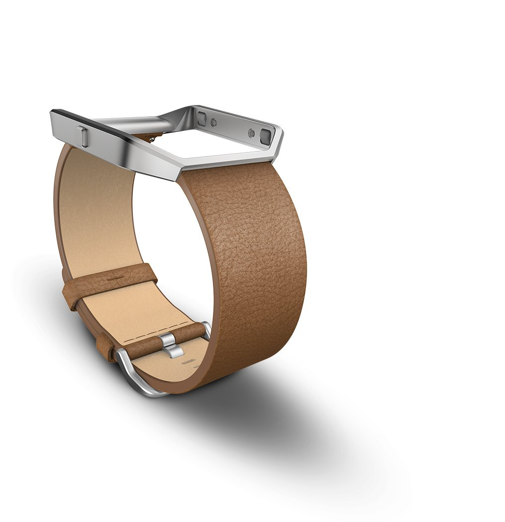 Fitbit Blaze Accessory Band, Leather, Camel, Small