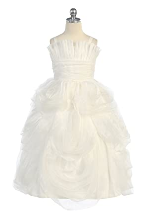 e6e92836608 Amazon.com  Organza Miniature Bride Girl Dress  Clothing