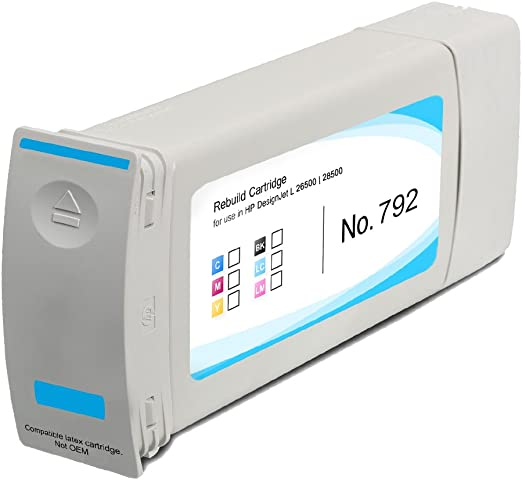 HP 792 compatible Cartuchos de Tinta para HP Designjet L 26500 28500, color cian claro: Amazon.es: Oficina y papelería