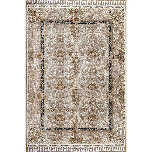 Amazon.com: Camel Carpet Handknotted Area Rug Beige Silk