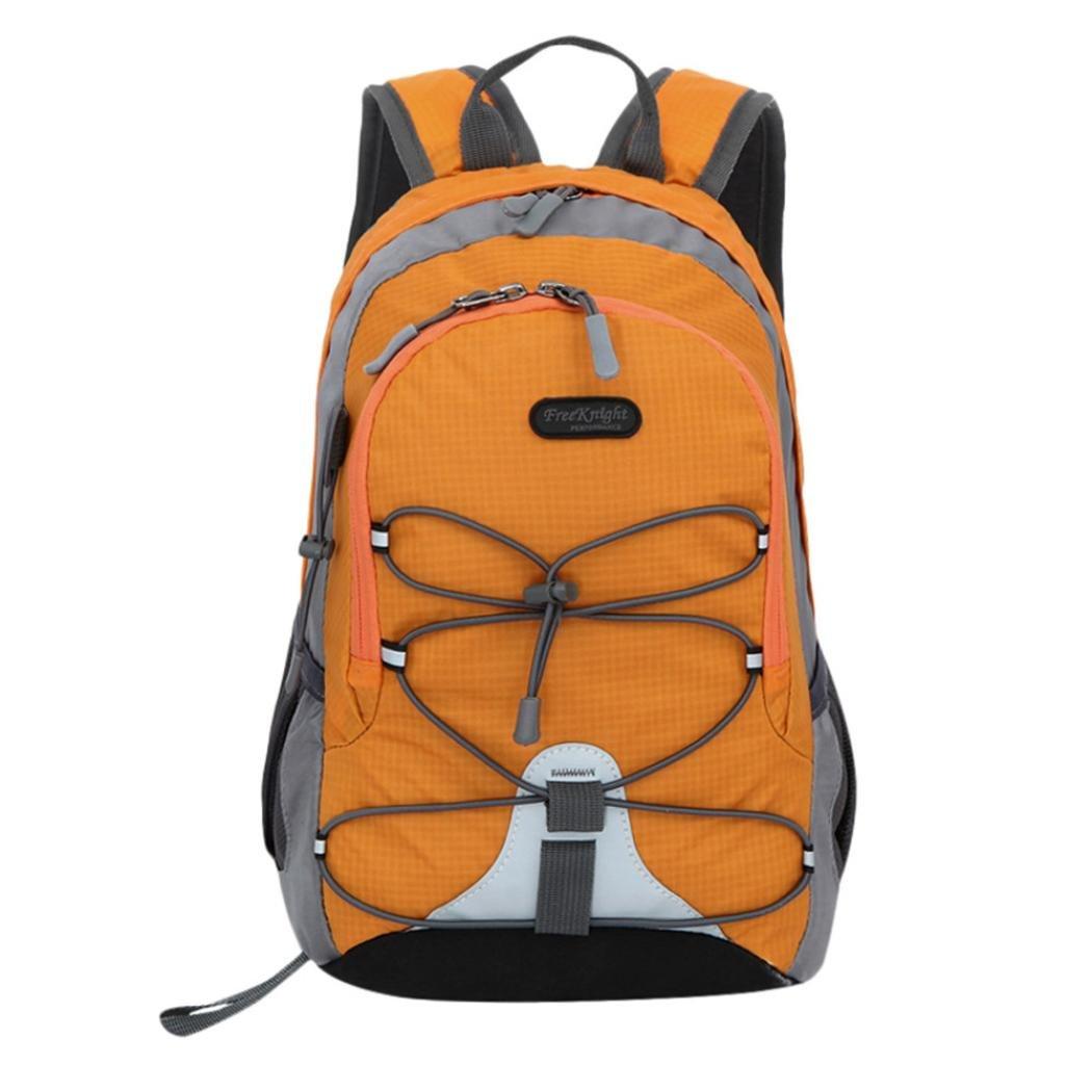 Outsta Trekking Travel Bag, Waterproof Outdoor Backpack Bookbag Children Boys Girls School Classic Basic Casual Daypack for Travel (Orange)