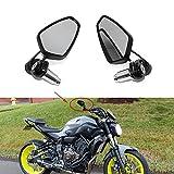 Universal Black Motorcycle 22mm 7/8'' CNC Handlebar Side Mirrors for Honda Kawasaki Yamaha Suziki