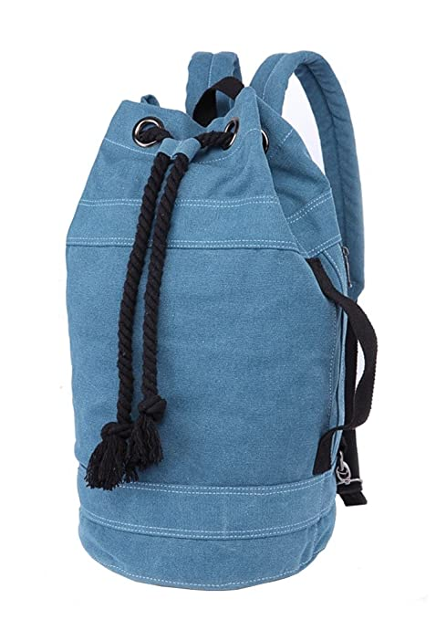1d4696718d Image Unavailable. Image not available for. Color  HomeTaste Canvas  Drawstring Bag Sports Gym Duffel Travel Backpack Large