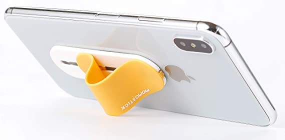MOMOSTICK Soporte de m/óvil para tel/éfono m/óvil iSeries - PU dorado Soporte de dedo para tel/éfono m/óvil anillo de celular para iPhone Samsung Huawei Agarre para tel/éfono m/óvil El original