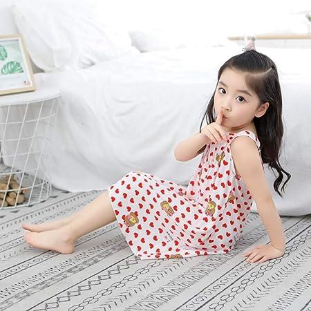 Pijama Infantil algodón Seda Princesa Falda Verano niña bebé sección Delgada niña Pijama en el Servicio a Domicilio de los niños: Amazon.es: Hogar