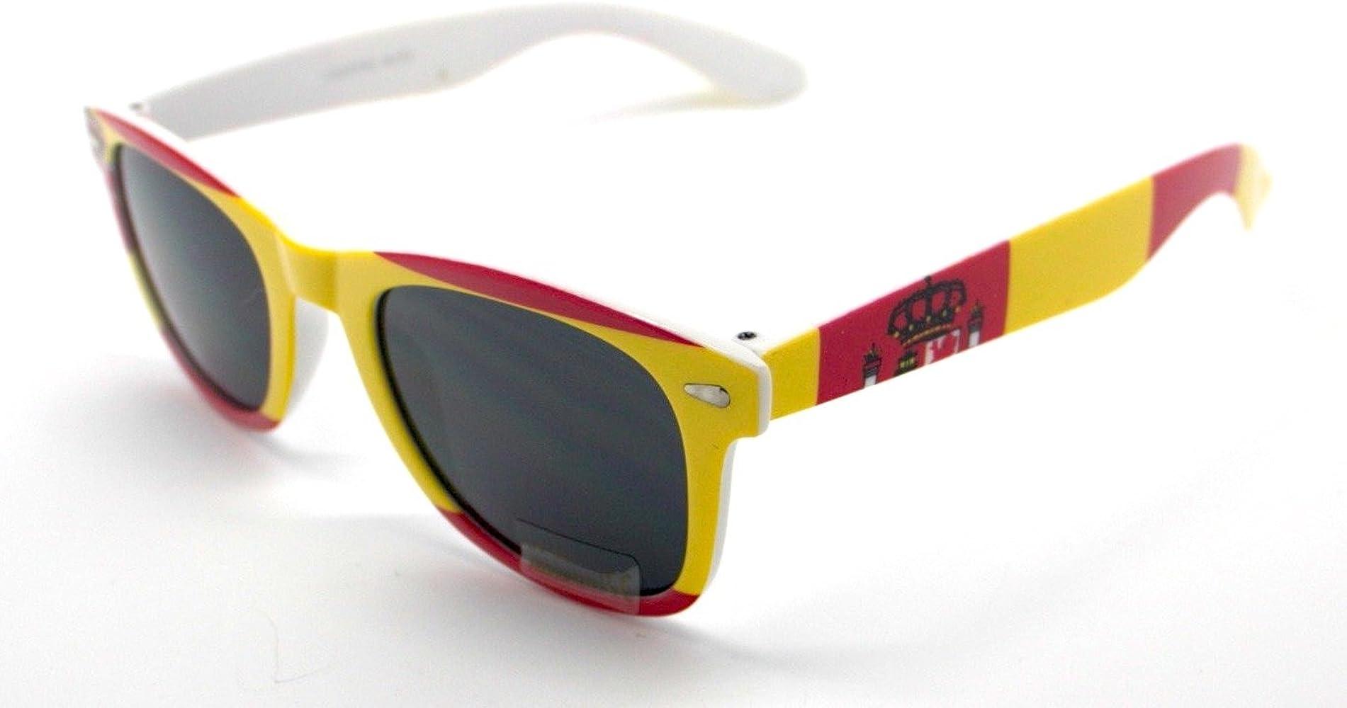 Totalcovers Gafas de Sol Espejo Sunglasses Bandera España: Amazon ...
