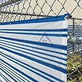 Alion Home Mediterranean Style Privacy Screen Mesh Windscreen for Backyard Deck Patio Balcony Pool Porch Railing Fence - Blue/White(3'x16')