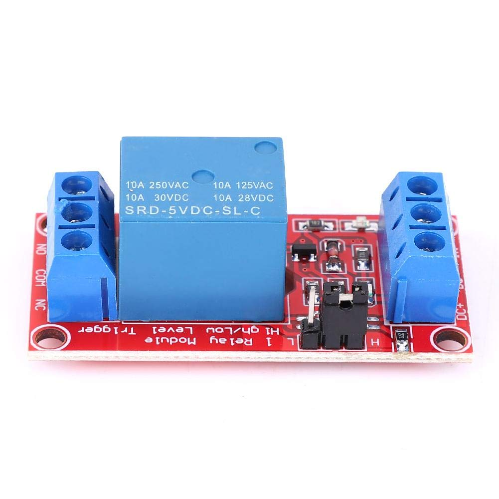 m/ódulo de rel/é de 1 canal Optoacoplador Soporte de aislamiento Disparador de bajo nivel Placa de control PLC 5V M/ódulo de rel/é