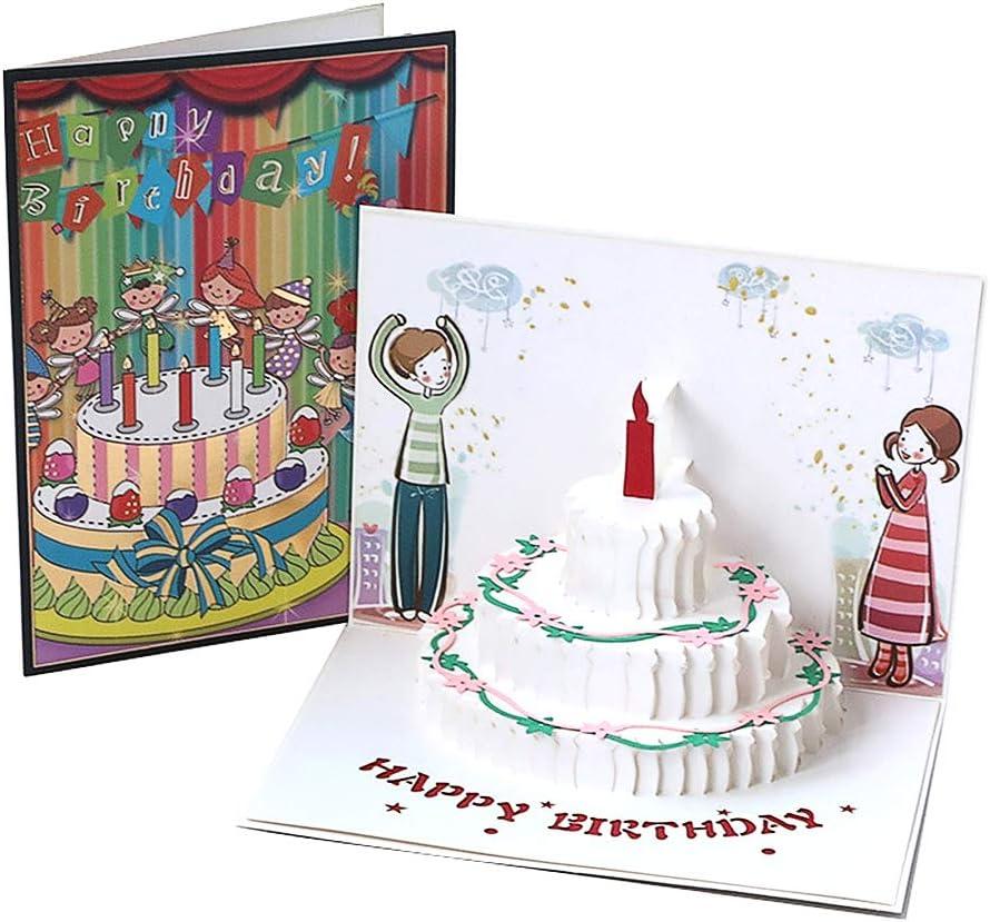 Tarjetas de felicitación Cumpleaños,Deesos Tarjeta de cumpleaños Regalo para familiares, amigos y amantes Especial, Tarjeta de felicitación emergente 3D, Sobre incluido