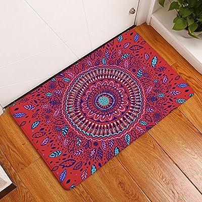 YJBear Ethnic Sun Flower Print Rectangle Doormat Kitchen Floor Runner Floor Mat Entry Mat Home Decor Carpet Indoor Outdoor Area Rug