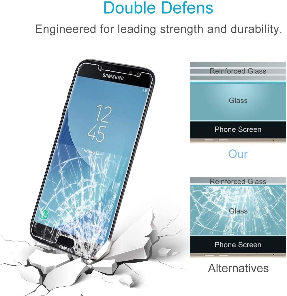 2018 Screen Protector for Samsung YSH Cell Phone Accessories 100 PCS 0.26mm 9H 2.5D Tempered Glass Film for Galaxy J4