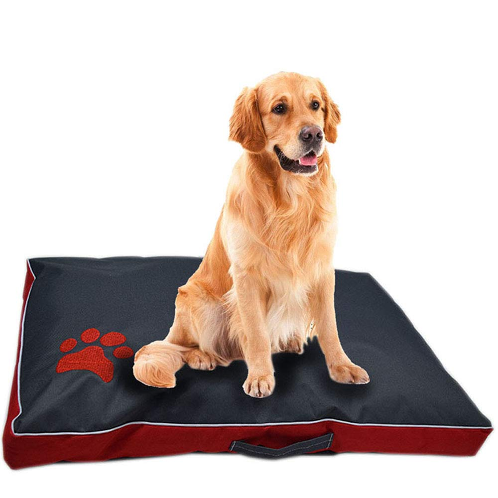 Red Medium Red Medium Dog Bed, Cushion for Large Oxford Cloth Puppy Breathable Waterproof Dog House Pad Pet Nest Sofa Blanket Mat for Animals Cat and Dog Dual Purpose,Red,M