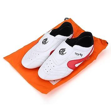 Alomejor Taekwondo Zapatos de Gimnasio Deportivo Unisex Boxeo Kung Fu Tai Chi Zapatillas de Entrenamiento para Niños Adultos Calientes: Amazon.es: Deportes ...