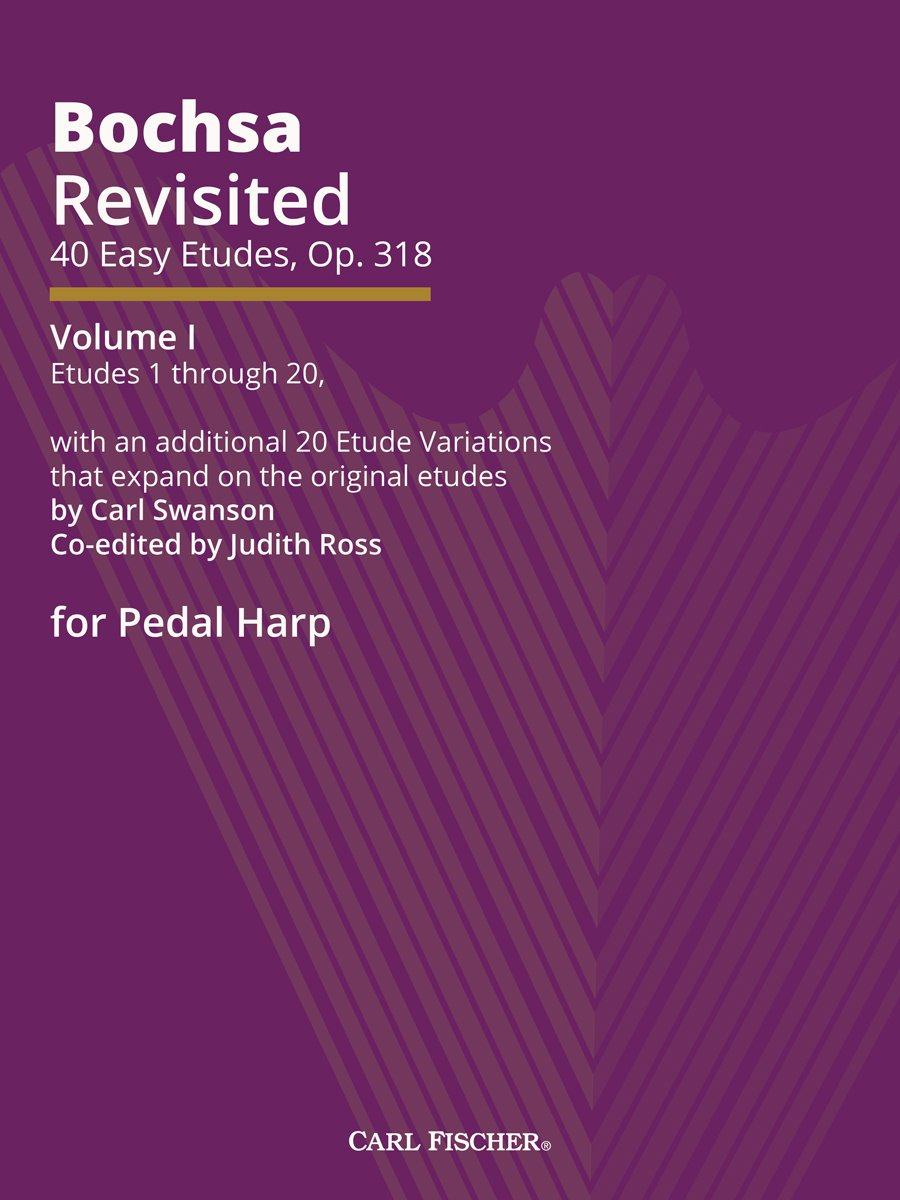 Bochsa Revisited: 40 Easy Etudes, Op. 318, Volume 1 For Pedal Harp