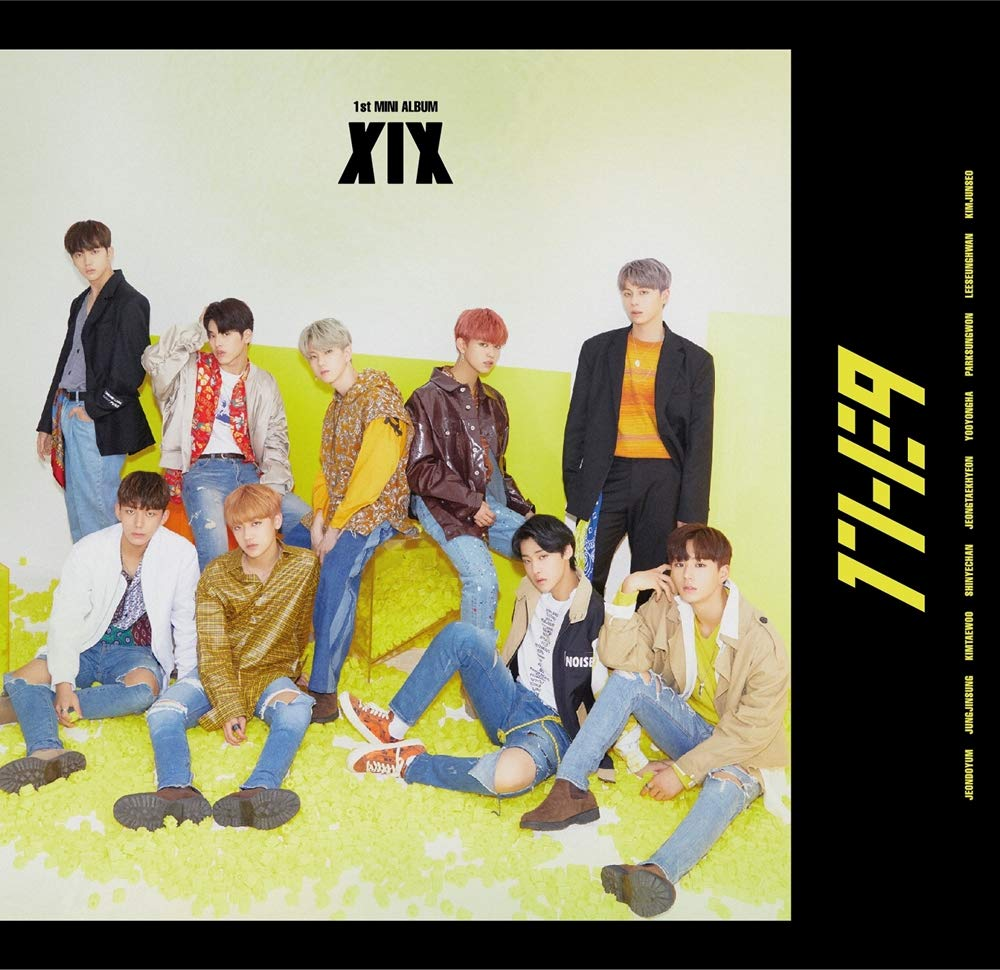 1THE9 - XIX (1st Mini Album) CD+104p Booklet+2Photocard+12Lyrics Book+1Speical Card+1Standing Photo+Folded Poster