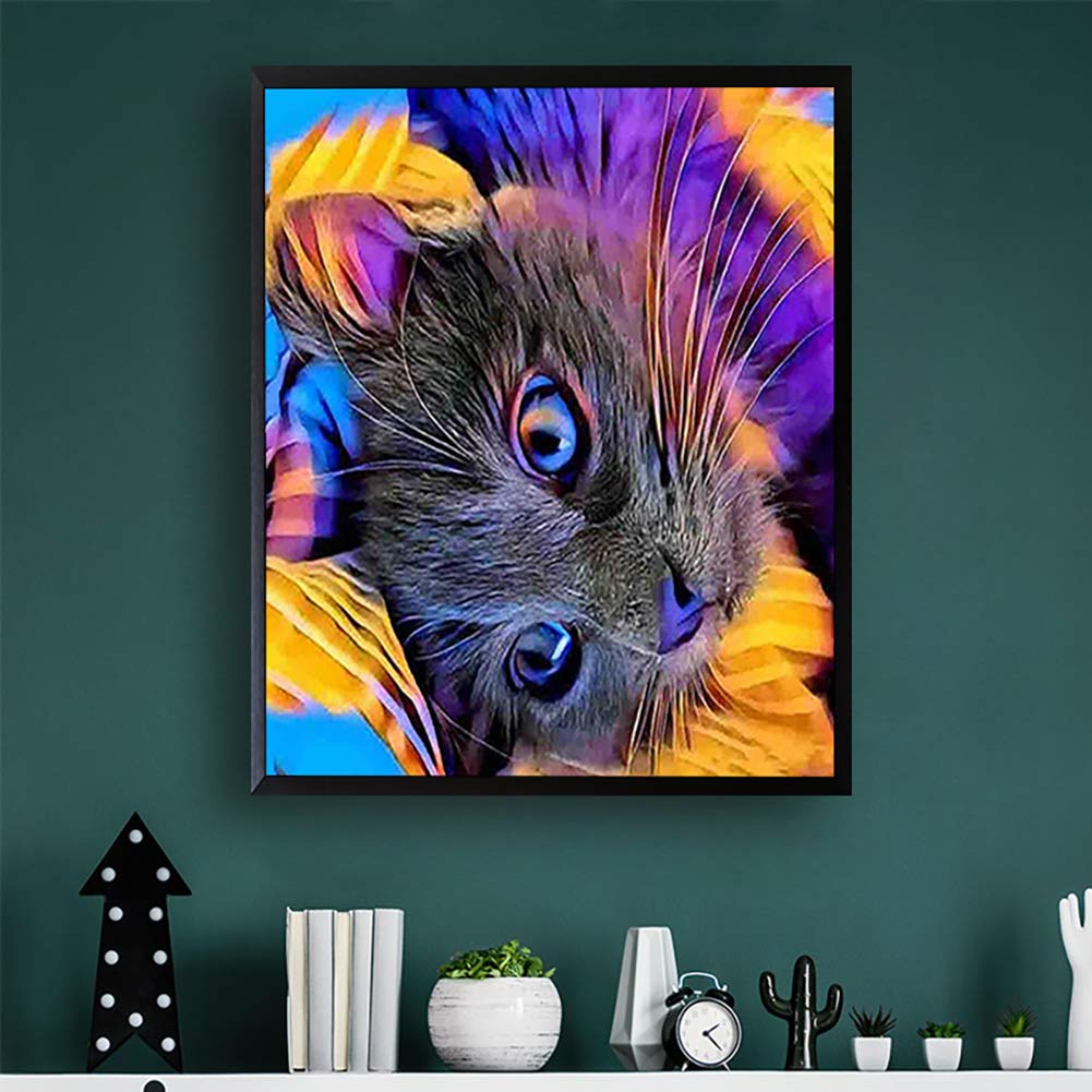 16x12 TINMI ARTS-Diamond Painting Peacock Spreads Full Square-Christmas Gift DIY 5D Stamped Cross Stitch Kits Paint with Diamonds Embroidery Kits Home Wall D/écor