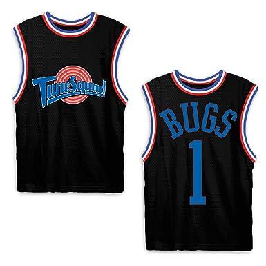 ed81adc5b0aa Amazon.com  space jam Mens Classic Tank - Tune Squad Michael Jordan   Bugs  Bunny Jersey 90 s Classic Tank Top  Clothing