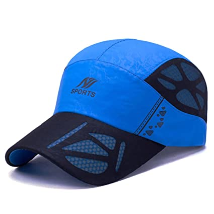 Buy Baseball Cap Sports Beach Wear Swimming Breathable Quick-Drying Monsoon Rain  Cap - Blue Color Online at Low Prices in India - Amazon.in ffdb2e9a2d8