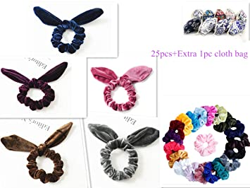 60 Hair Mini Bobbles Hairband Elastic Colour Bands Kids Baby Ponytail Stretchy