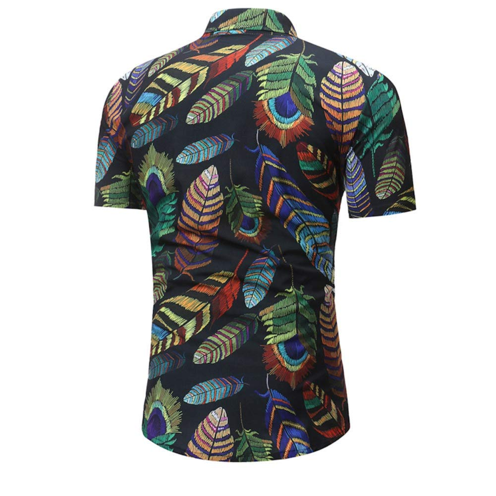 90c087bf0e6 Men Dress Shirt Button Down Stand Collar Shirt Summer Graphic Floral Print Shirt  Shirts Blouse Tops by Lowprofile at Amazon Men s Clothing store