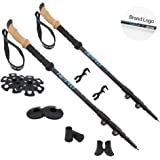 HETTO Nordic Trekking Poles 7075 Aluminium Telescopic Lightweight Adjustable Durable Hiking Walking Sticks with Cork Grips for Hiking Camping Climbing Walking 1 Pair Men and Women