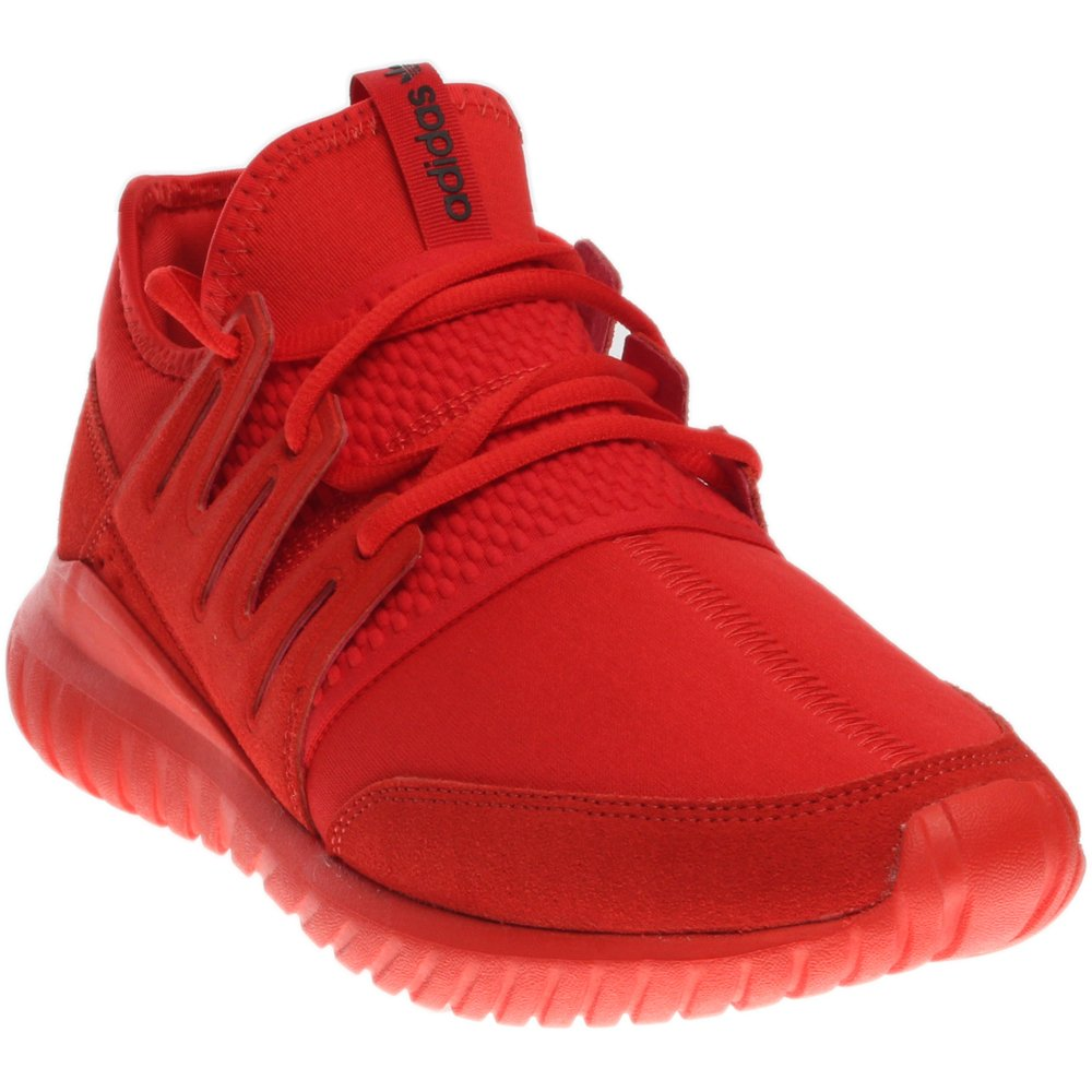 more photos 7e4d3 1a7b0 adidas Men's Tubular Radial Red/Core Black Ankle-High Fabric Fashion  Sneaker - 10M