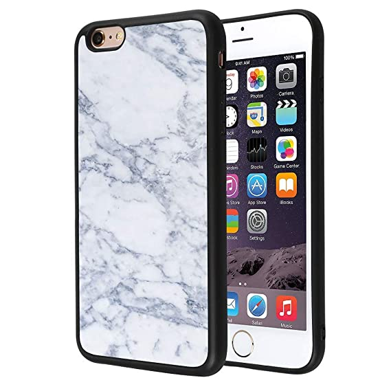 Amazon com: ZSTVIVA iPhone 6/6S Plus Case White Marble Quote