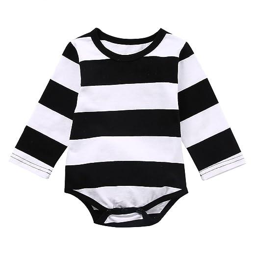 55f621e48 Amazon.com  Faithtur Toddler Baby Girls 1 PCS Black White Striped ...