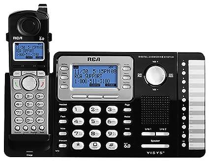amazon com rca rca 25252 dect 6 0 1 handset 2 line landline rh amazon com  rca visys 25252 manual