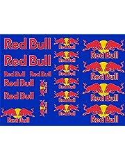 Arte Stampa Sticker compatibel met Red Bull Kit 20 stuks blauw voor auto motorfiets motorcross
