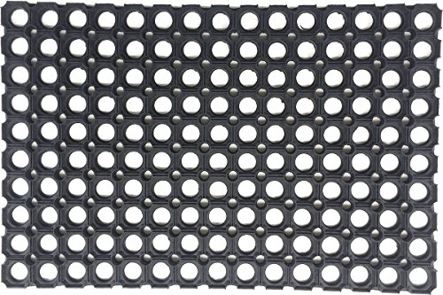 Coco Mats N More Honeycomb Pattern Rubber Door Mat, Black